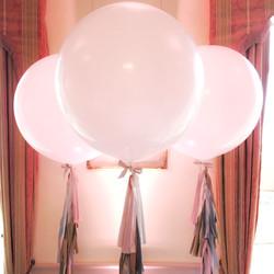 White Tassel Tail Balloons
