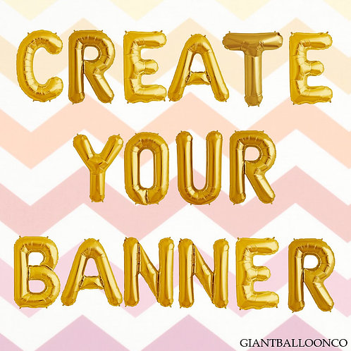 Gold- Create Your Own Banner