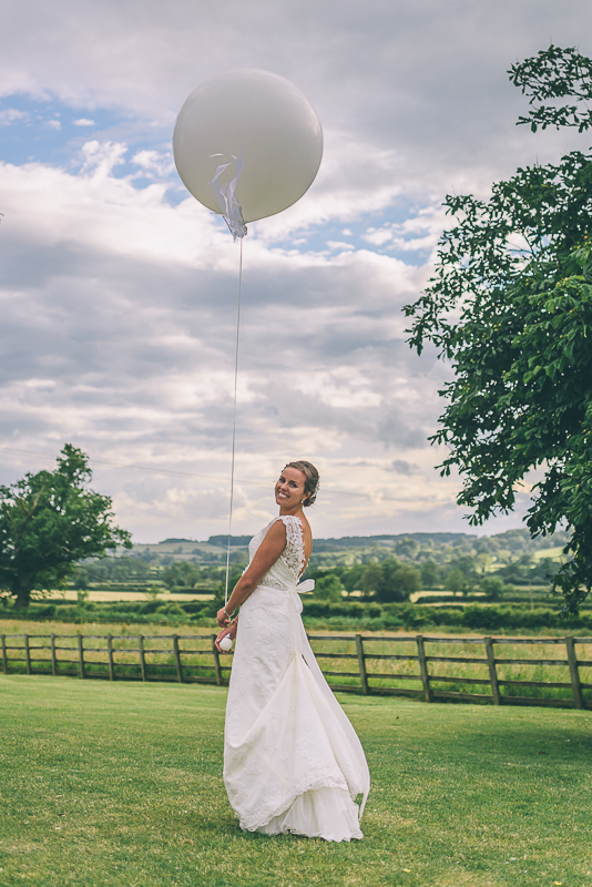 Bride With Giant Wedding Balloon