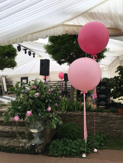 Pink Giant Wedding Balloons