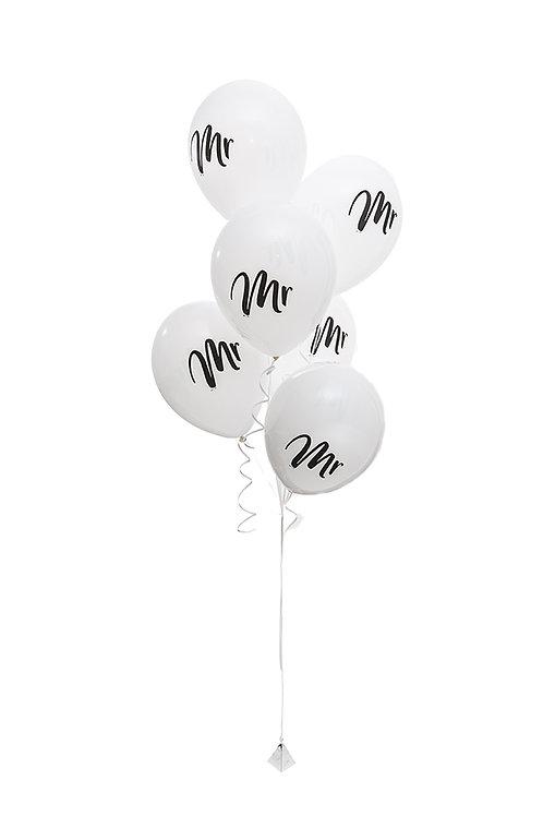 "Mr 11"" Wedding Balloons"
