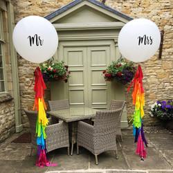 Bright Mr & Mrs Giant Balloons