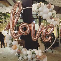 Rose Gold letter balloons