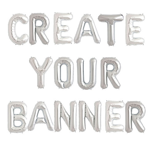 Silver- Create Your Own Banner