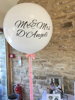 Kingscote Barn Wedding Giant Balloon