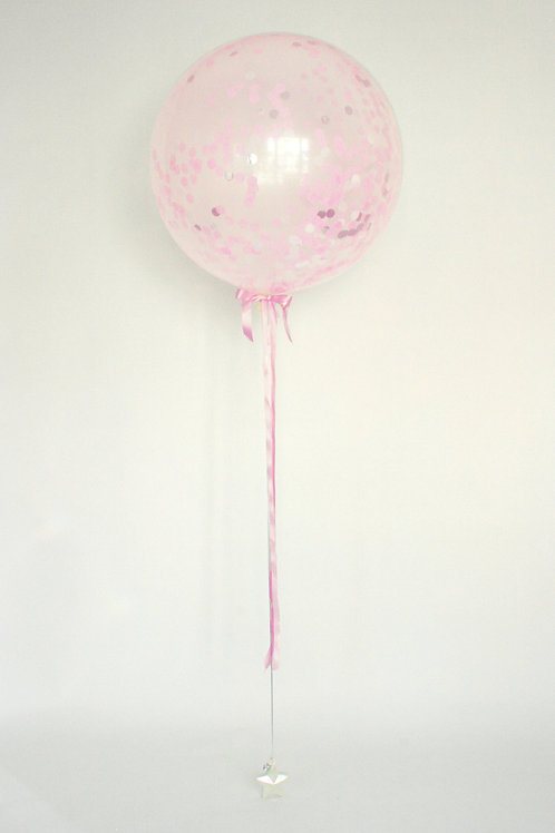 Baby Girl Confetti Balloon