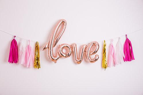 Love Balloon Banner