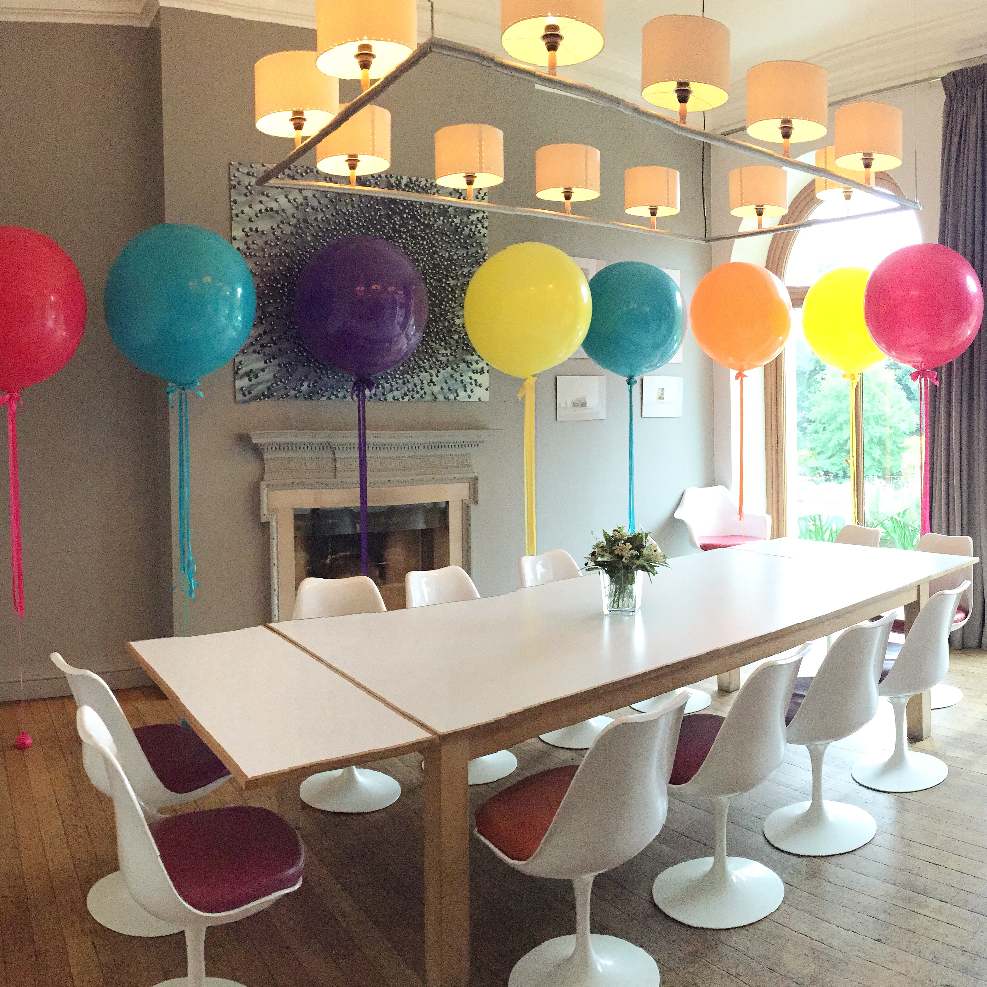 Giant Balloons at Cowley Manor