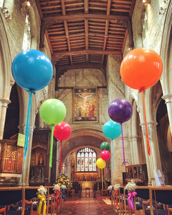 Giant Balloon Church Aisle