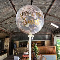 Confetti Giant Balloon at Stone Barn