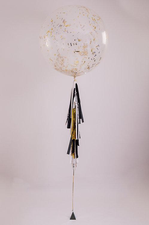Time to Celebrate Tassel Tail Balloon
