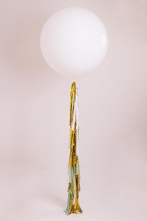 Mint Gold Tassel Tail Balloon