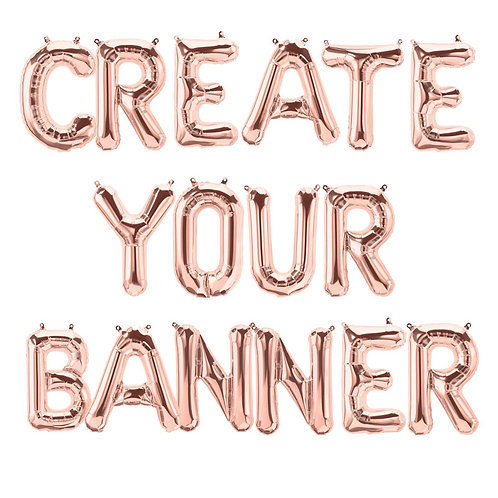 Rose Gold- Create Your Own Banner