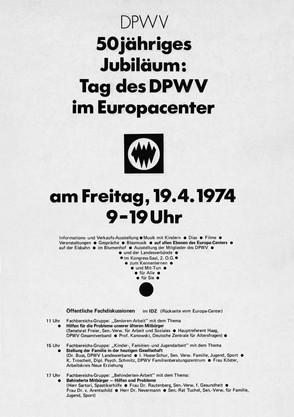Plakat zum Jubiläum