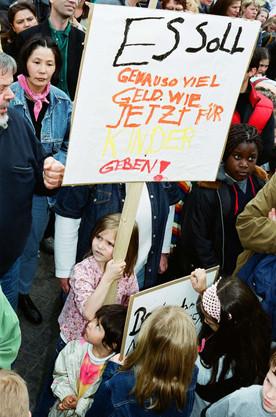 Protest der Kita-Träger