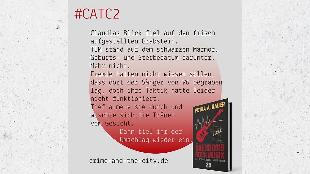 Textschnipsel aus der Serie Crime and the City der Autorin Petra A. Bauer