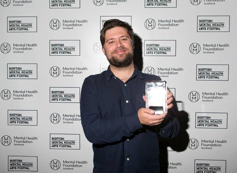 Tom Lock Griffiths with SMHAF Best Experimental Film 2017 award