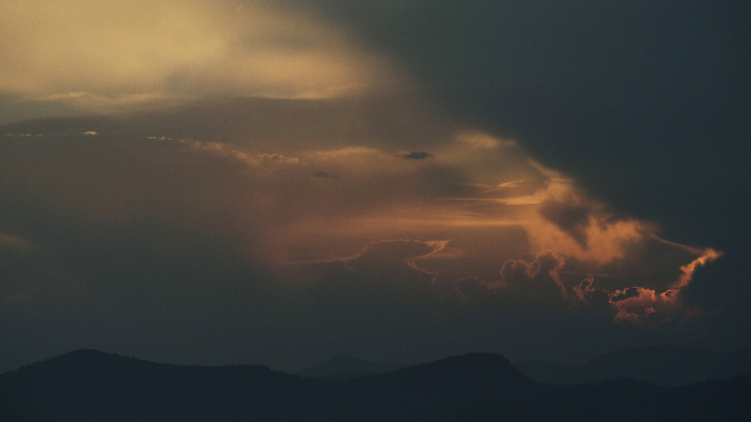 After the storm, sunset in Provence from Mistral