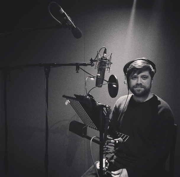 Tom Lock Griffiths recording the Voice Over for Waterfall