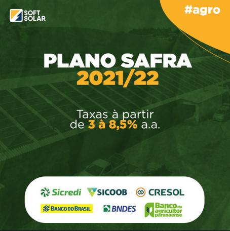 Plano Safra 21/22 maiores recursos para técnicas agrícolas sustentáveis.