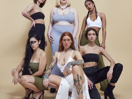 How do the fashion and media industries portray imperfections in industries dominated by perfection?