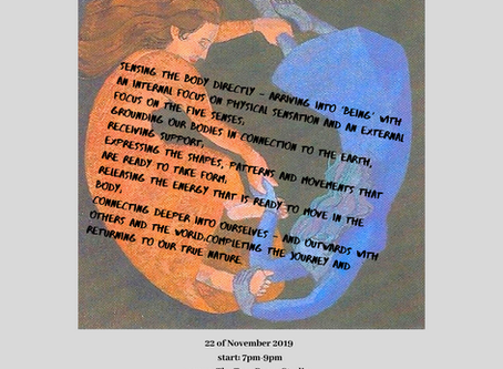 It is good to dance around women... Come and join me on 22nd of November 7pm at the Tree Room, Colch