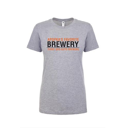 """Apopka's Favorite Brewery - Woman's """"Boyfriend Tee"""""""