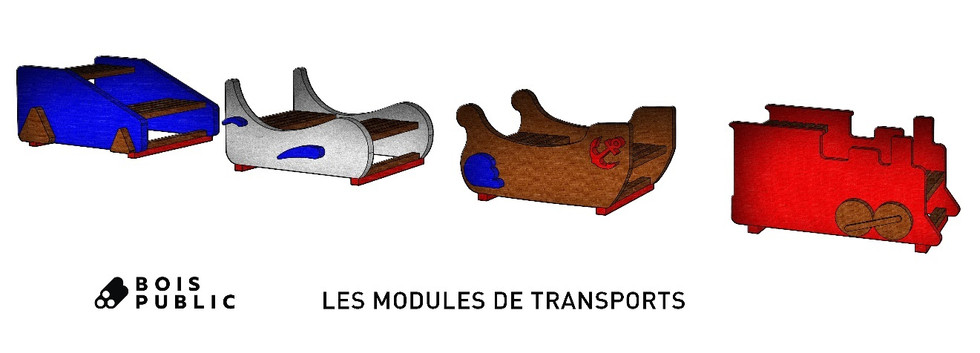 Modules de transports - Mobilier offert en 2018