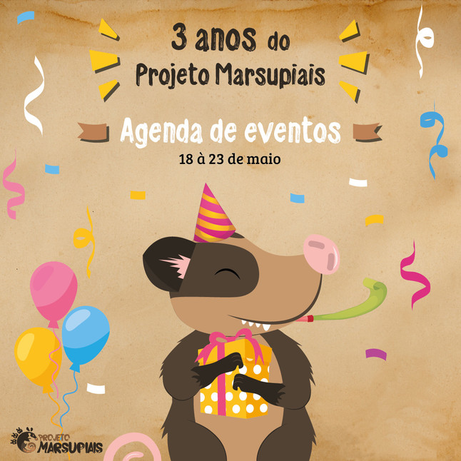 Projeto Marsupiais fará 'lives' para comemorar  aniversário de três anos