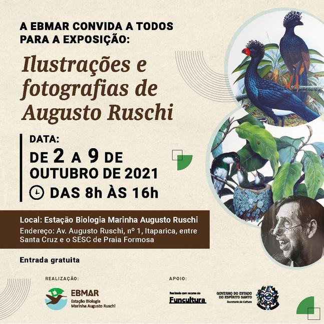 CONVITE: Exposição da EBMAR apresenta fotografias de Augusto Ruschi e ilustrações dos Irmãos Demonte