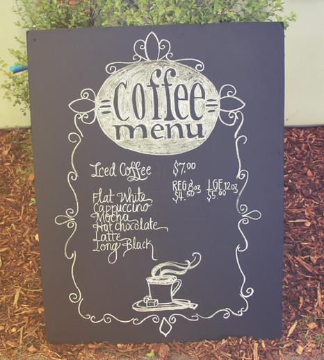 barista coffee menu