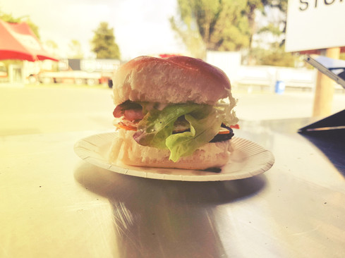 gourmet breakfast burger