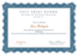 Level 1 Reiki Certificate - Dani Battagl