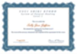 Practitioner Reiki Certificate - Sally J