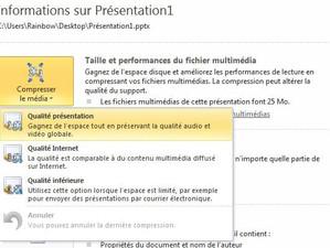 Powerpoint 2010 - Compresser la taille d'un fichier