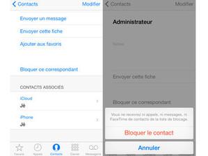 iPhone: Bloquer un contact téléphonique