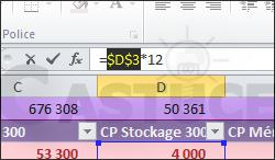Ajouter rapidement le symbole $ à vos formules dans Excel