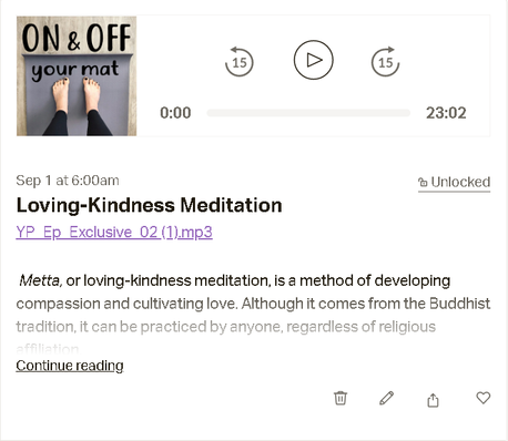 Patreon Exclusive Episode 1 & 2 : Get to know me & Loving-Kindness Meditation