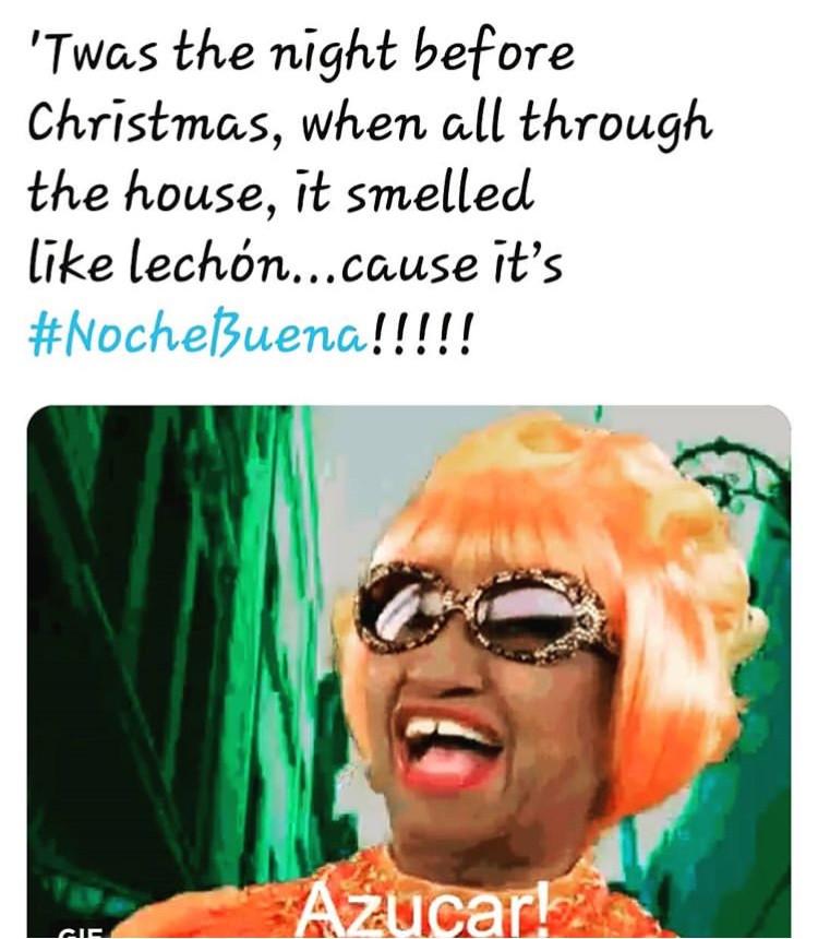 Noche Buena Cuban Food Celia Cruz Feliz Navidad