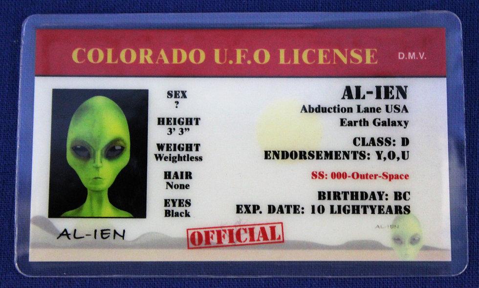Colorado U.F.O. License