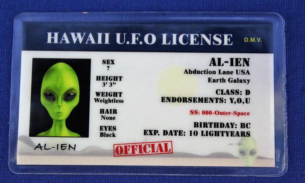 Hawaii U.F.O. License