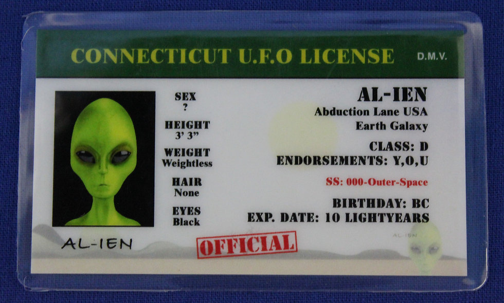 Connecticut U.F.O. License