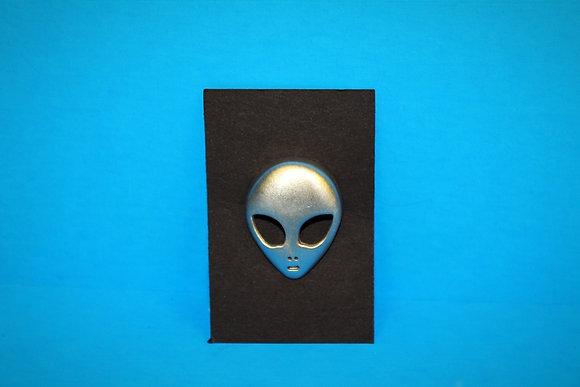 Alien Face Pin