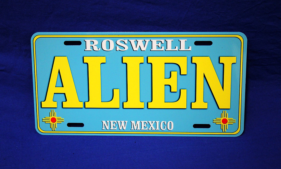 NM State Alien License Plate