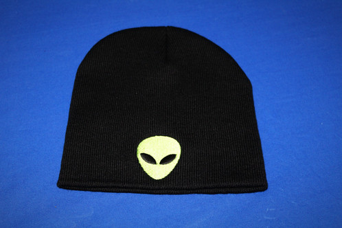 32adf1aa981 Black Alien Beanie.   10.00