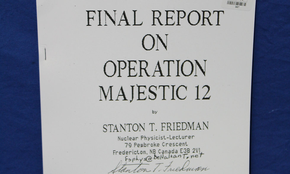 Final Report on Operation Majestic 12