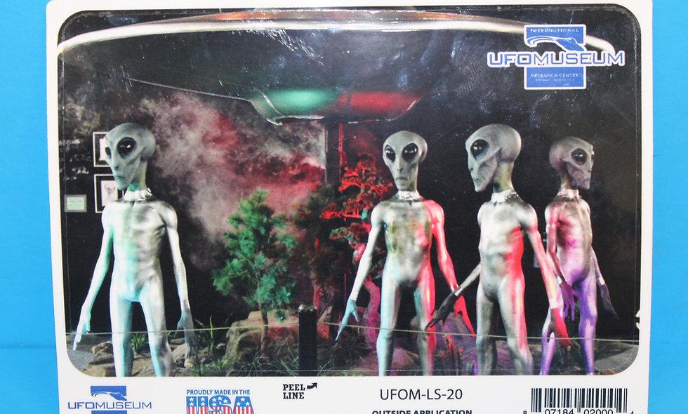 Alien Display LARGE Sticker