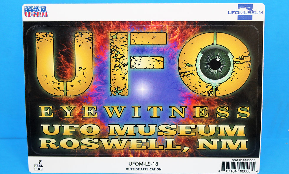 Eye Witness Color LARGE Sticker