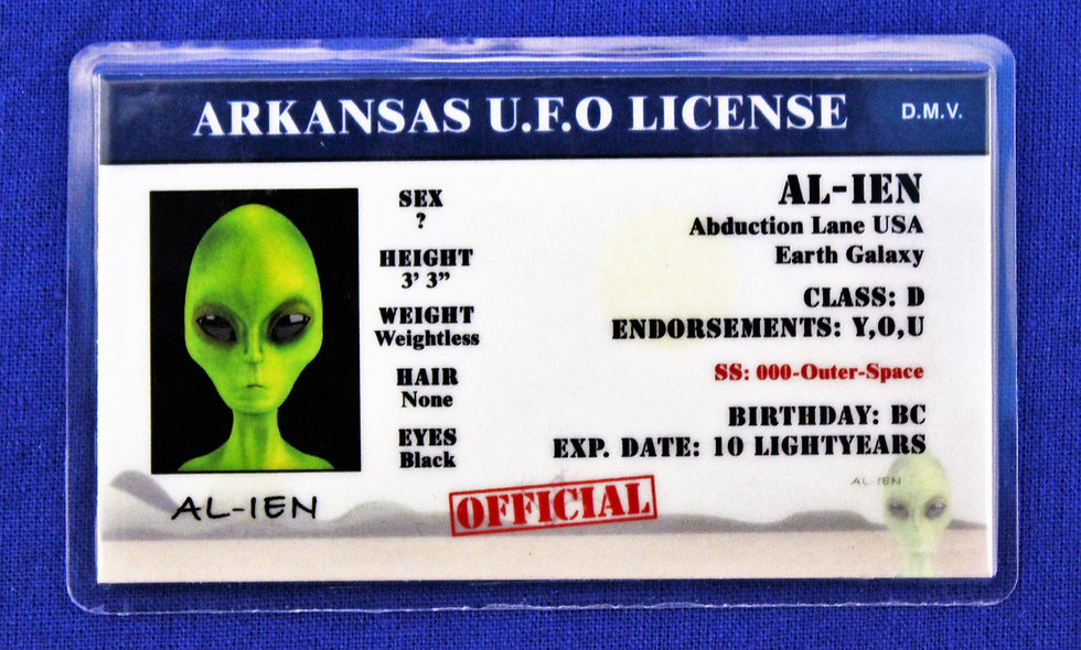 Arkansas U.F.O. License
