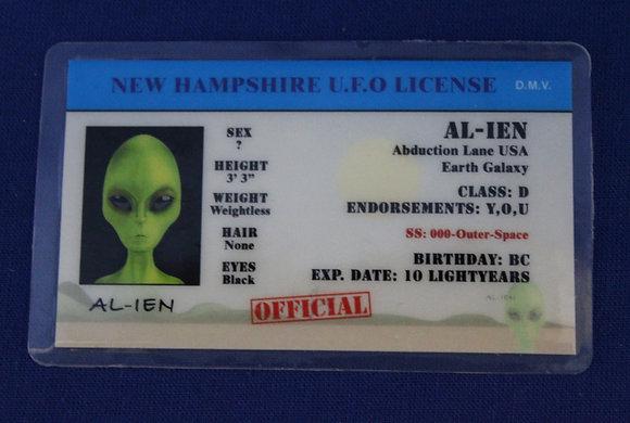 New Hampshire U.F.O. License